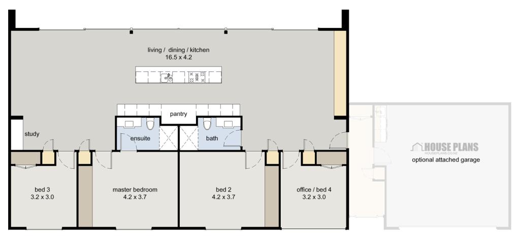Symmetry Floor Plan 164m2 House Plans Garage Floor Plans House Floor Plans