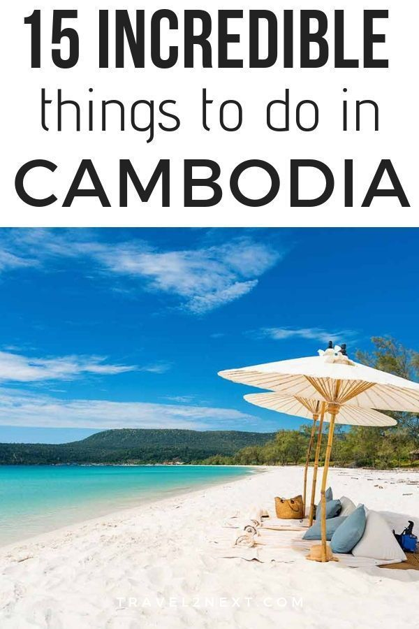 15 incredible things to do in Cambodia. One of the attractions in Cambodia is Koh Ron Island. #asia #cambodia #incredible #travel #travelguide #kohronisland #sihanoukville #phnompenh #burgeoning #speedboat #turquoisewaters