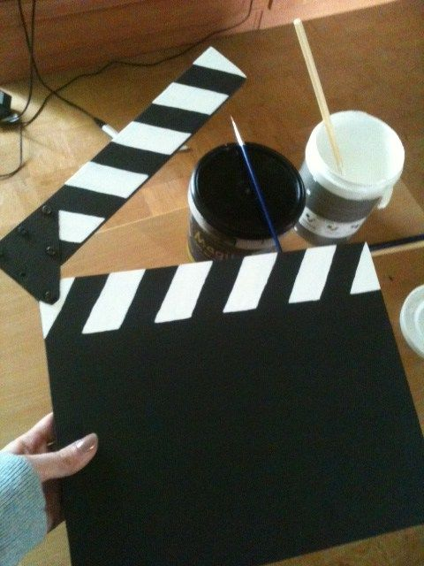 Diy Movie Clapper Birthday Movie Night Movie Themed Party Hollywood Party Theme
