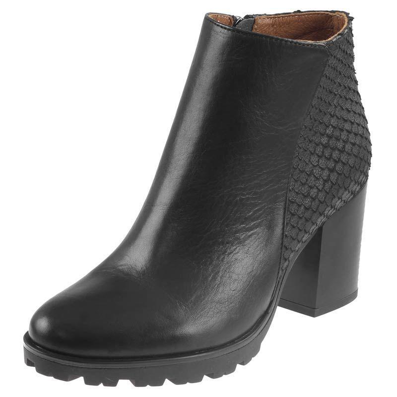 Botki Nessi 744 N Czarne 14 Pn Nieocieplane Buty Damskie Botki Nieocieplane Boots Heeled Mules Shoes