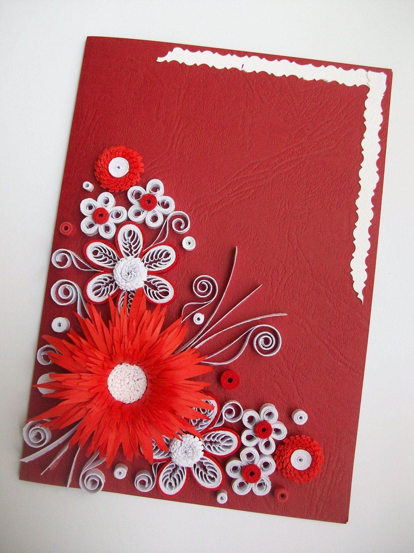 De handmadetedy en etsy birthday cards pinterest quilling