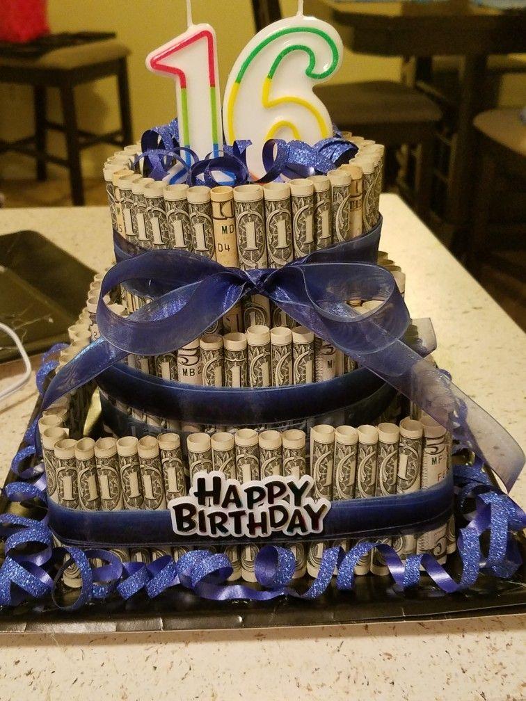 Cake 16th Birthday style Happy 16th birthday, Money
