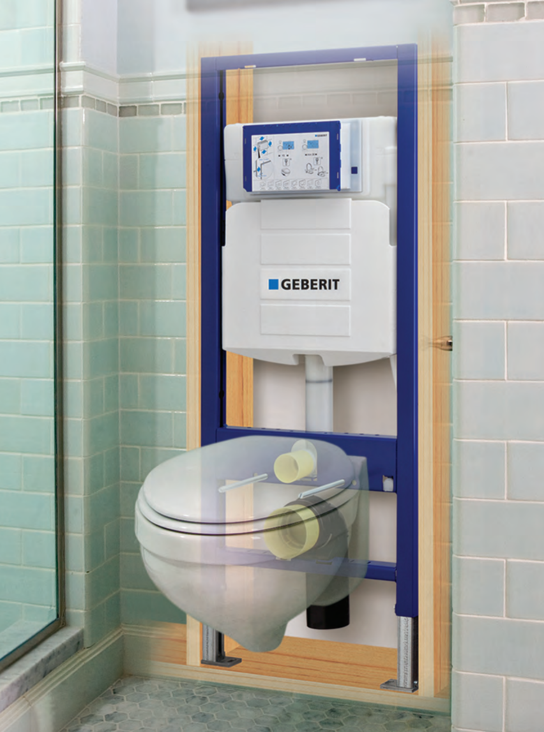Wc Suspendu Grohe Dimension geberit - duofix carrier for wall-hung toilet & 2x6