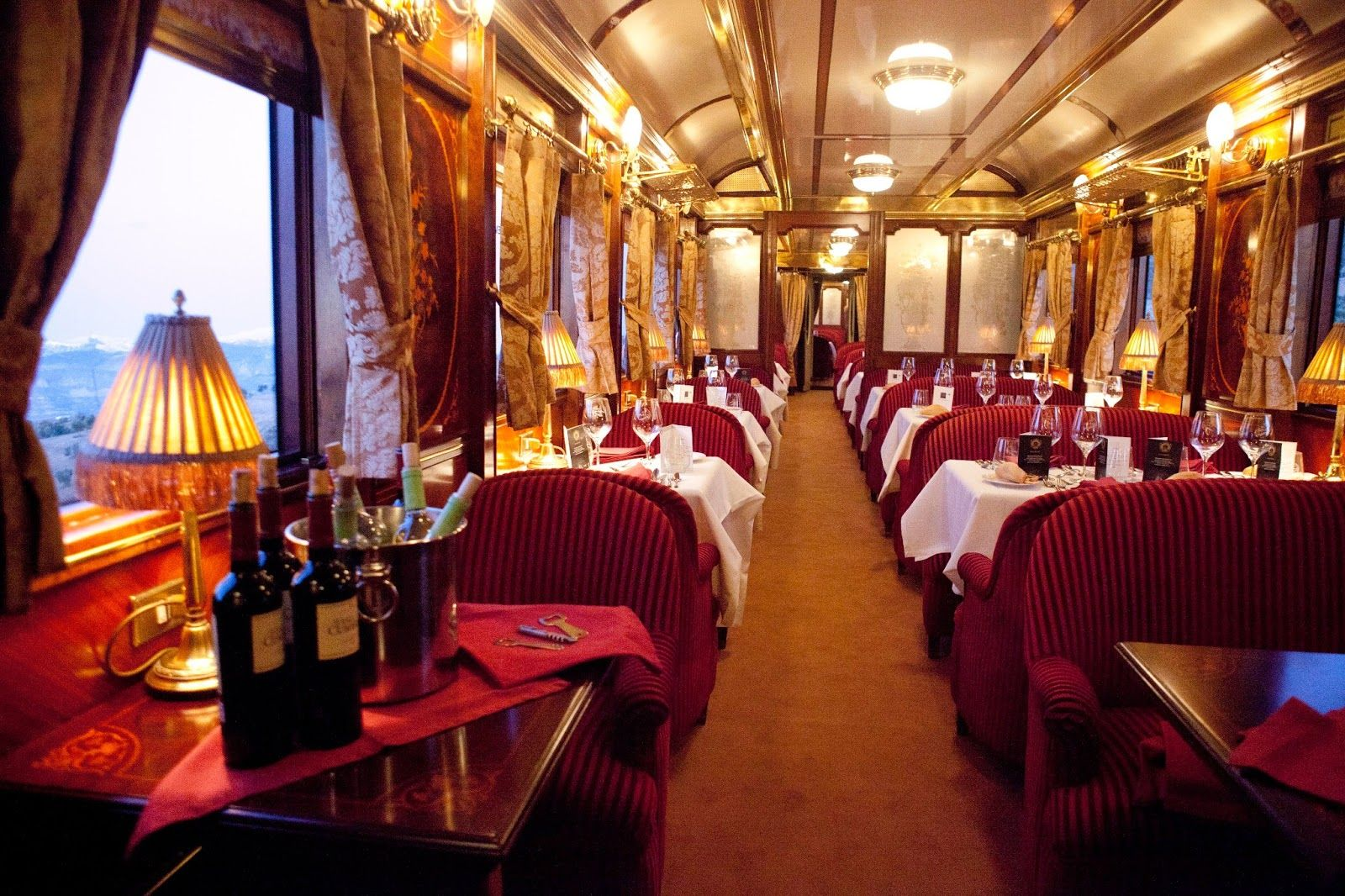 orient express train interior | the orient express was a true luxury