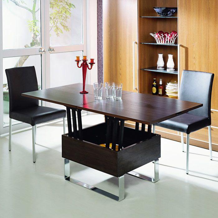 Table Basse Qui Se Leve.Table Basse Relevable En Bois Wenge Avec Plateau Qui Se Leve