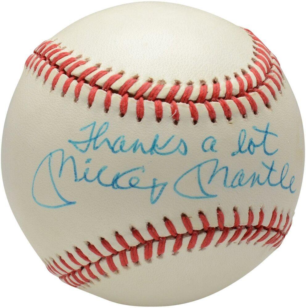 Autographed Mickey Mantle Yankees Baseball Fanatics Authentic Coa Item 9223513 Sportsmemorabilia Autograph Mickey Mantle Babe Ruth Baseball Vintage Baseball