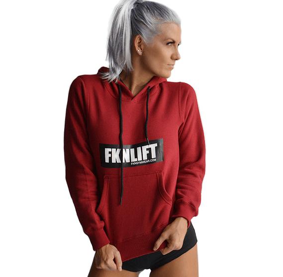 975eebd1 Women's 'FKNLIFT' Hoodie – Maroon | Time to Layer Up! | Hoodies ...