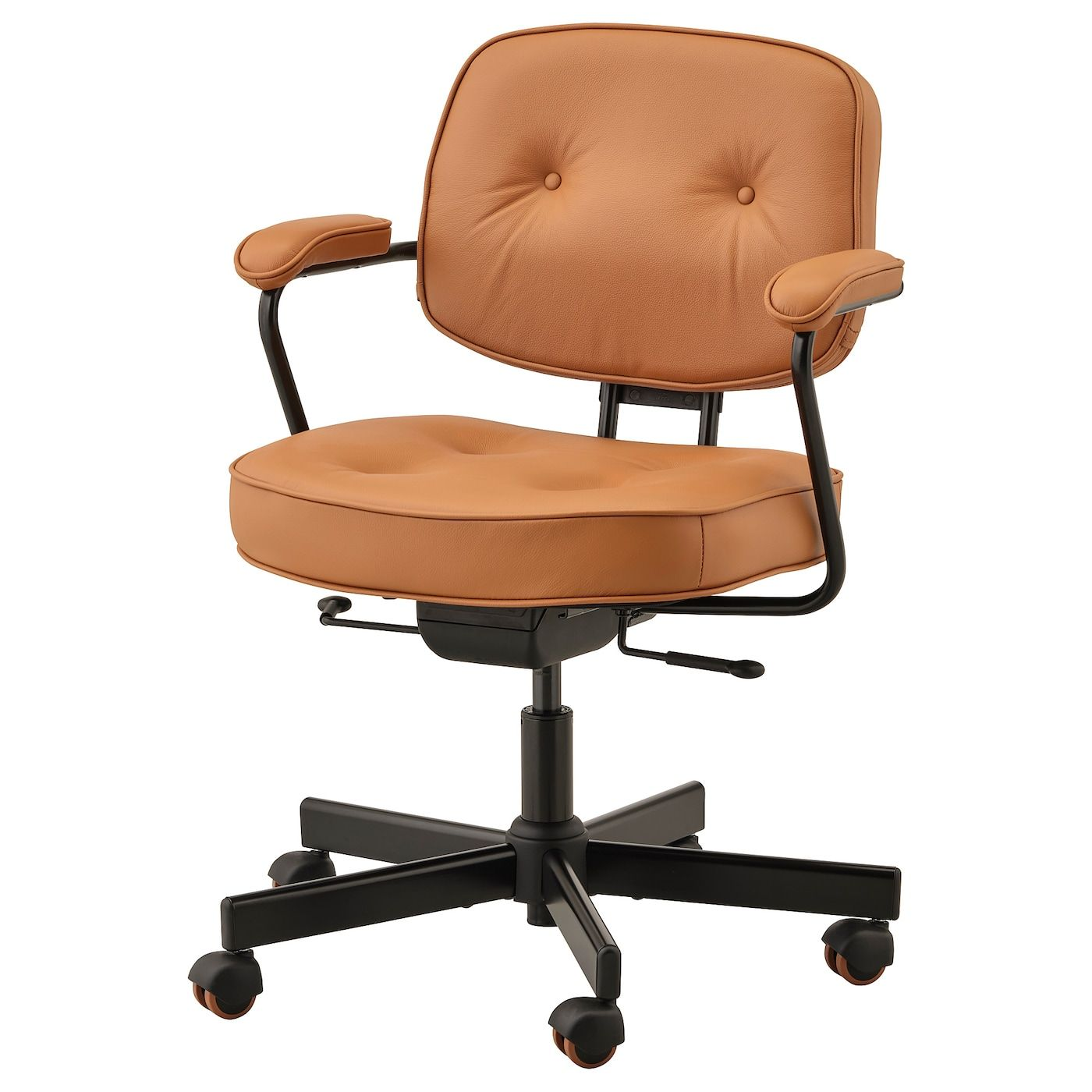 Alefjall Office Chair Grann Golden Brown Ikea In 2020 Office Chair Brown Office Chair Ikea Office Chair