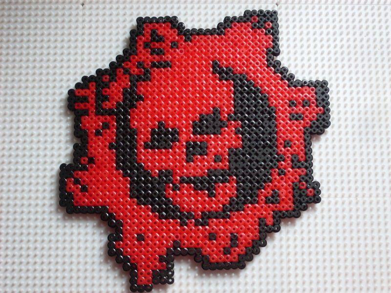 Gears of War | Cross Stitching | Perler beads, Pearl beads