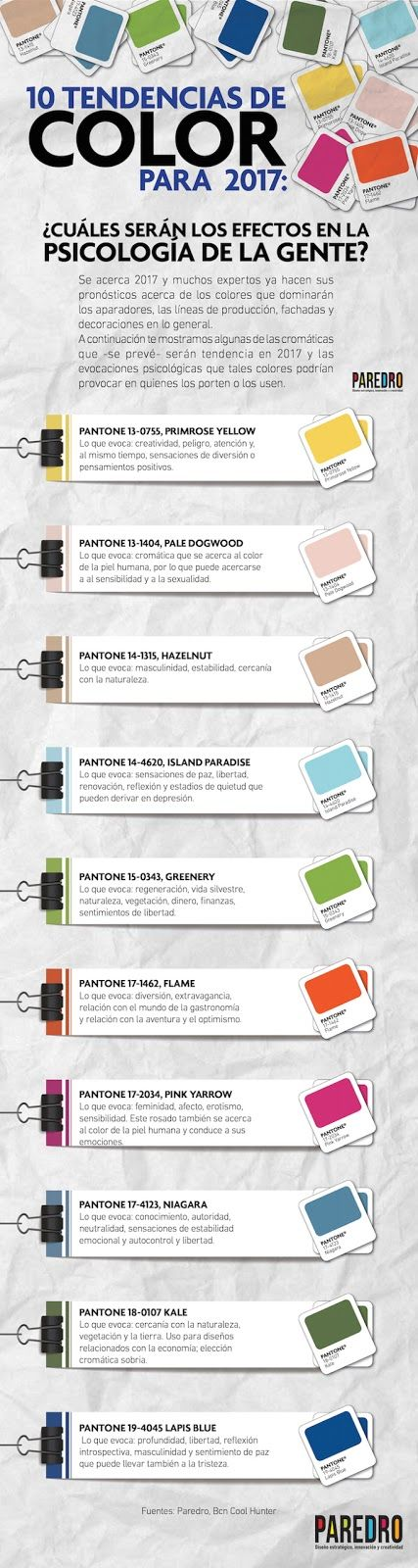 Top 10 de tendencias de color para el 2017 #Infografia #Infographic #Design