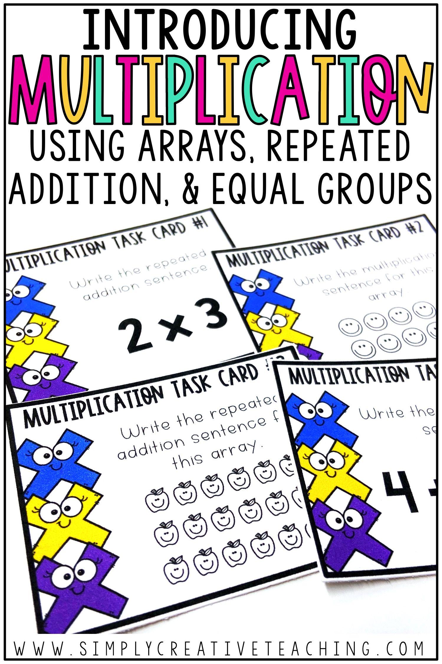 Introducing Multiplication Activities Amp Ideas