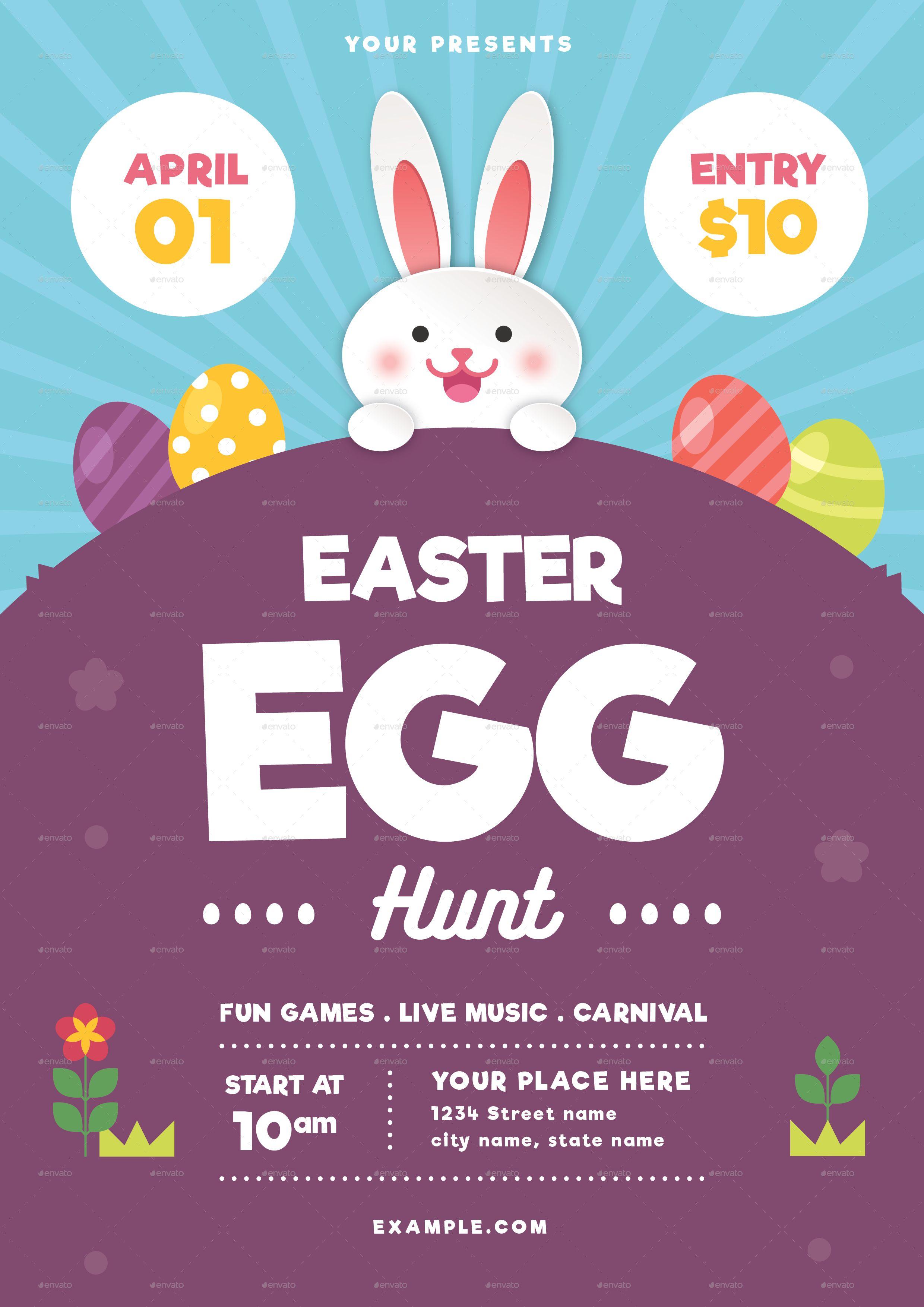 Easter Egg Hunt Flyer Template from i.pinimg.com