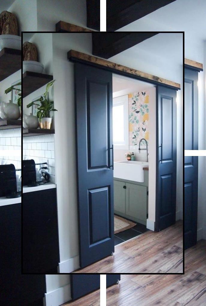 Natural Veneered Wooden Flush Door Design Mdf Living Room: Sliding Barn Door Lock