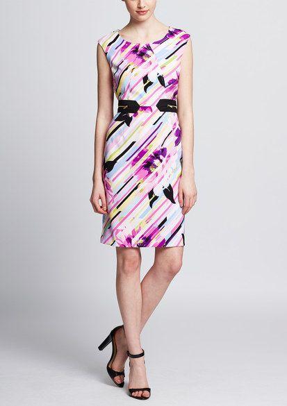 EMMA & MICHELE Sleeveless Printed Sheath Dress