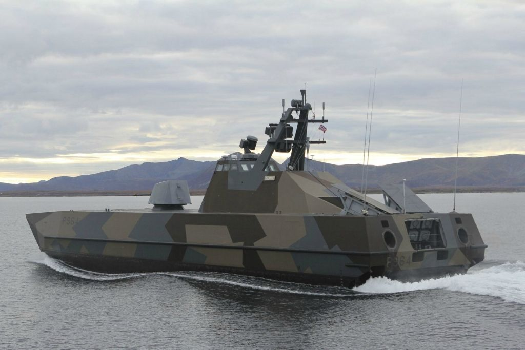 "Skjold-class corvettes (""shield"" in Norwegian) are a class of six large, superfast, stealth missile craft in service with the Royal Norwegian Navy."