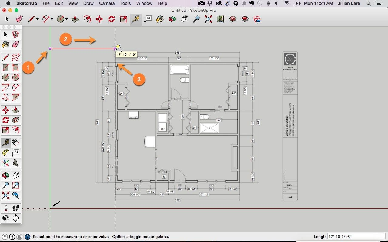 Draw a Floor Plan in SketchUp from a PDF Tutorial Floor