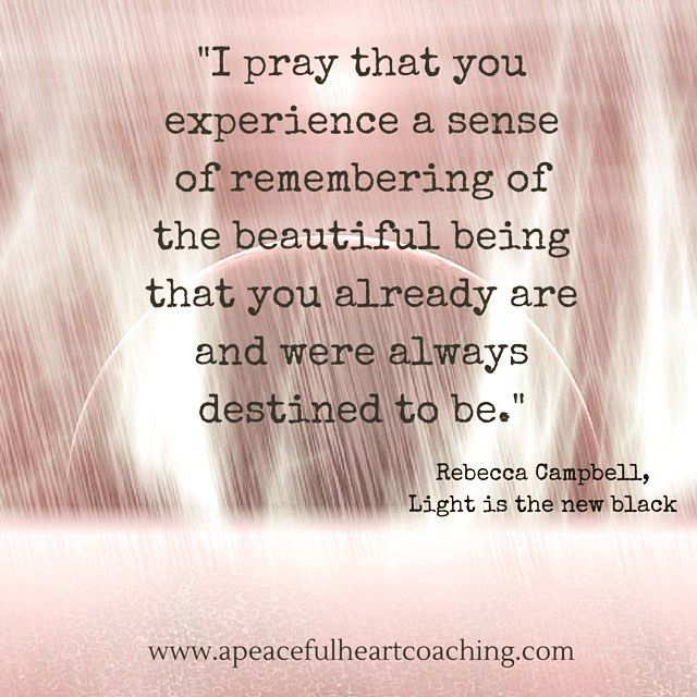 "So beautifully said by Rebecca Campbell. If you're struggling to find your truth, purpose or what it is you truly desire...then schedule a Clarity call with me:) I have some 1-on-1 coaching spots opening up in September for my ""90 days to Living your Truth"" coaching program!!! I guide you to create the life you desire by using the Law of Attraction and other spiritual principles! Request a call soon before they fill up!  #apeacefulheartcoaching"