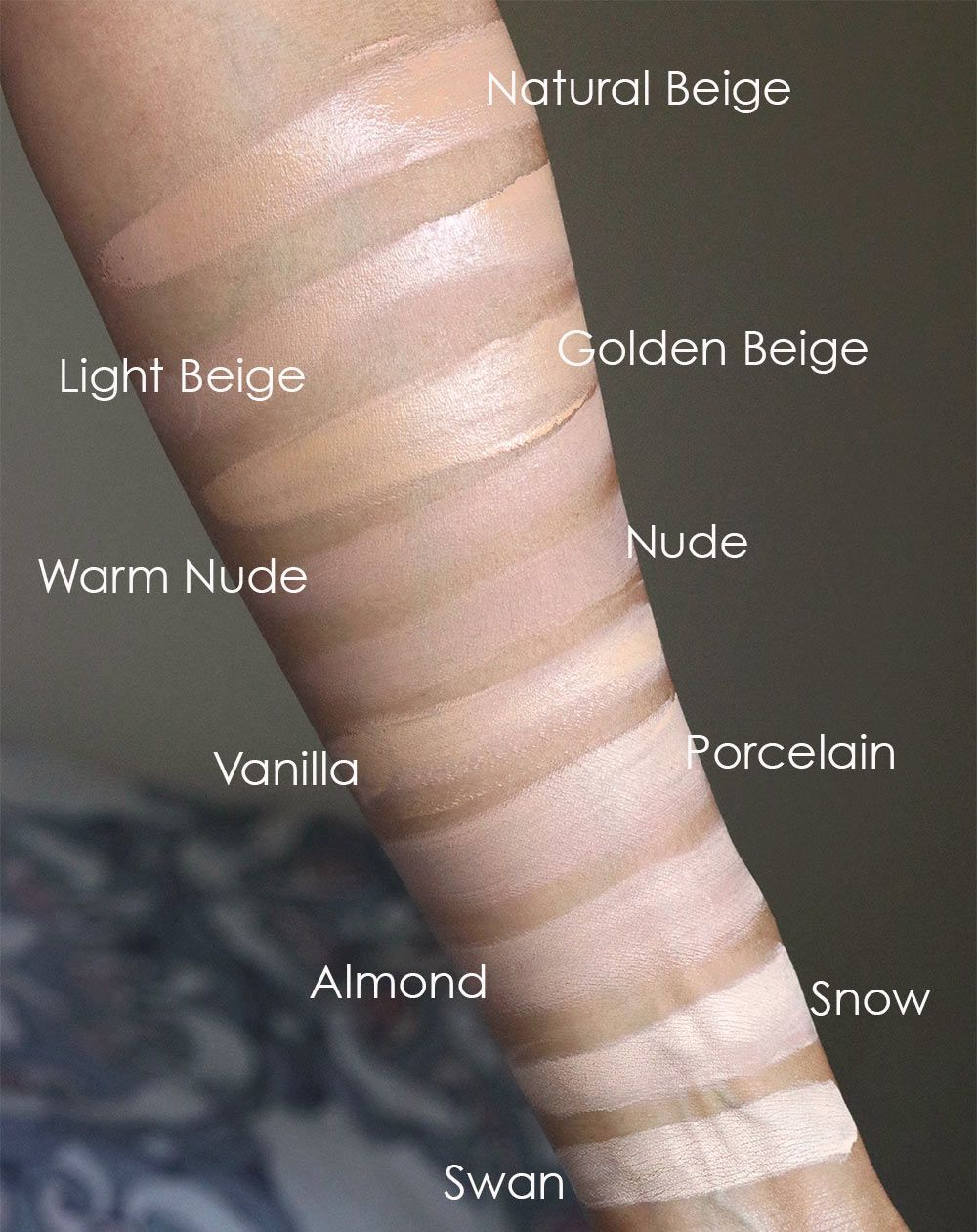 too faced peach perfect foundation swatches 1 | Beauty | Skincare in ...
