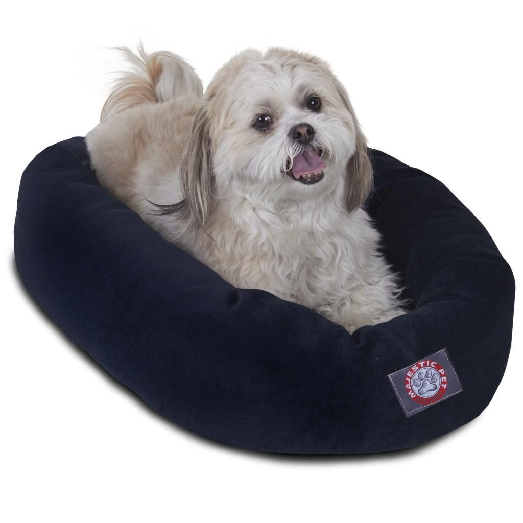 """24"""" Villa Collection Micro-Velvet Bagel Bed, Various Colors, By Majestic Pet Products"""