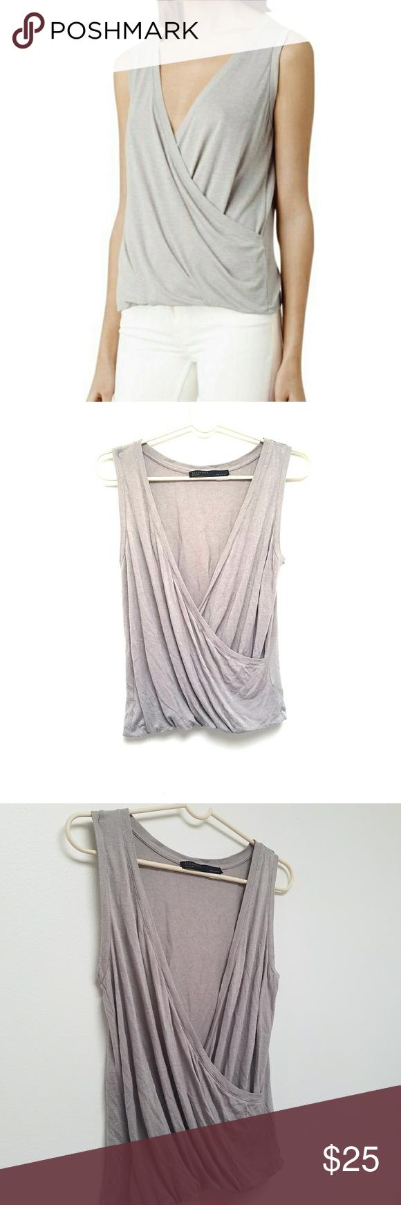 All saints kerin vest wrap style colour gray and saints