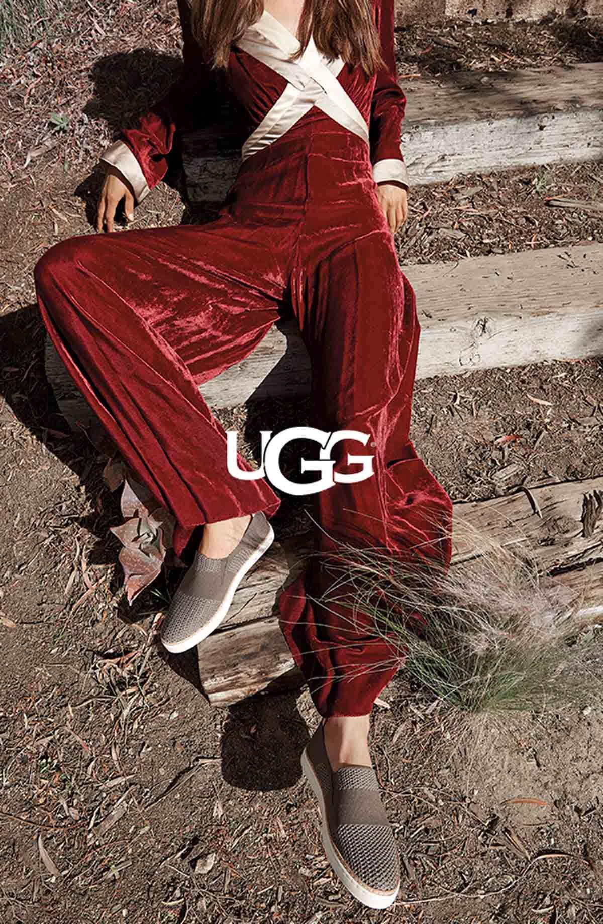 Model wearing the UGG Sammy sneaker in
