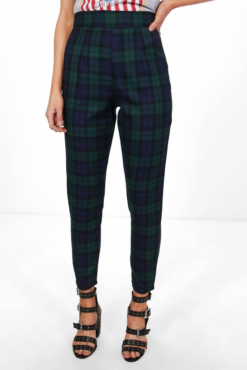 Boohoo Petite High Waisted Check Tapered Trouser Buy Cheap Best Wholesale 2018 New For Sale Explore For Sale Online Shop Official Cheap Online WlkgN