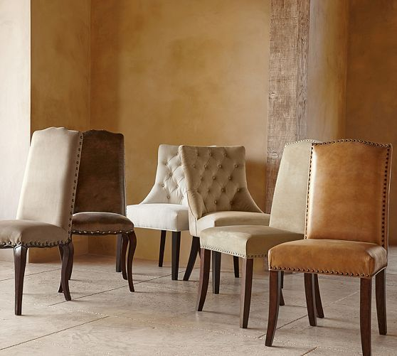 Calais Dining Chair Side Erin Linen Oatmeal Dining Rooms