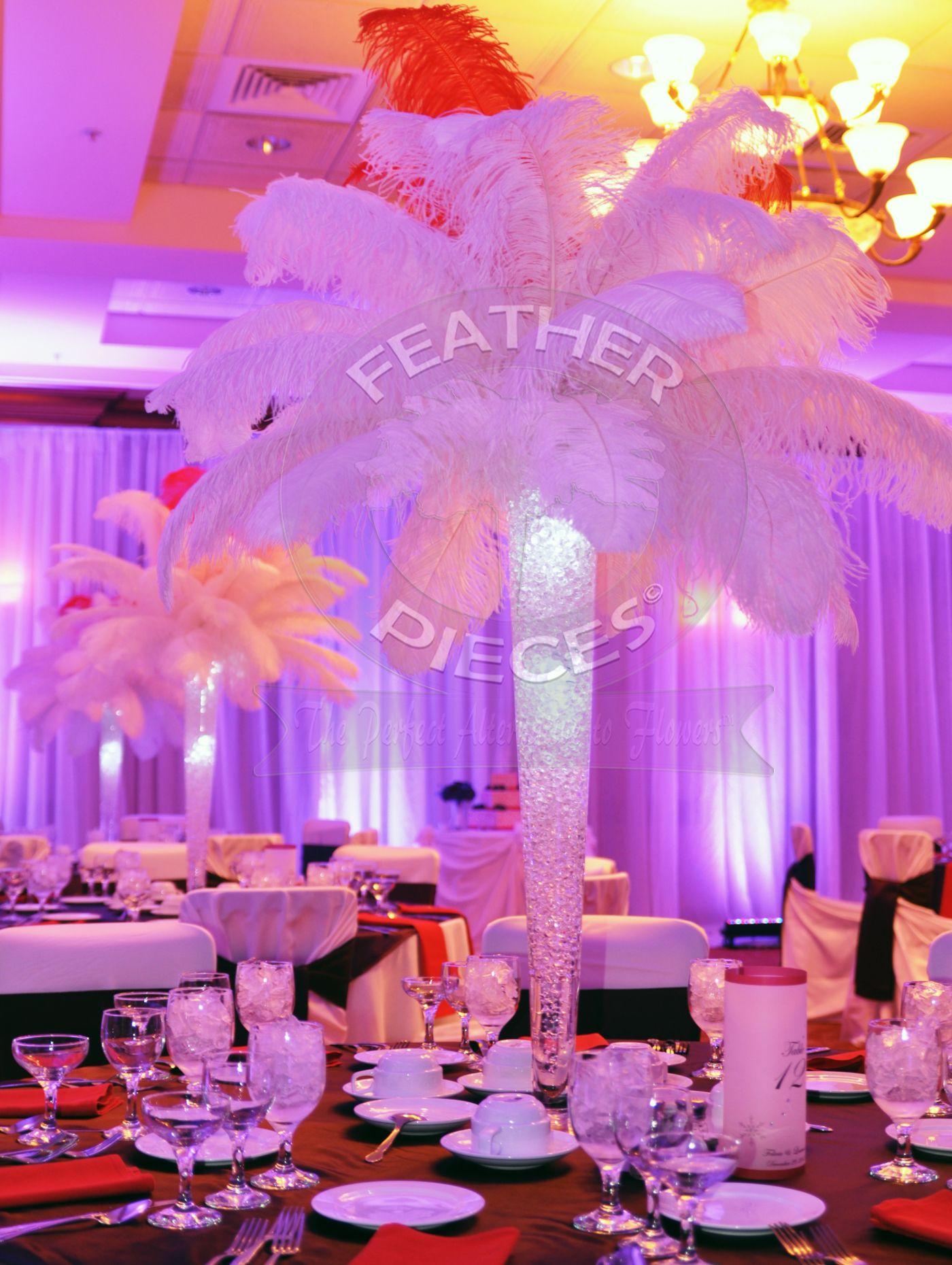 Rent Ostrich Feather Centerpieces by FeatherPieces.com | Party Ideas ...