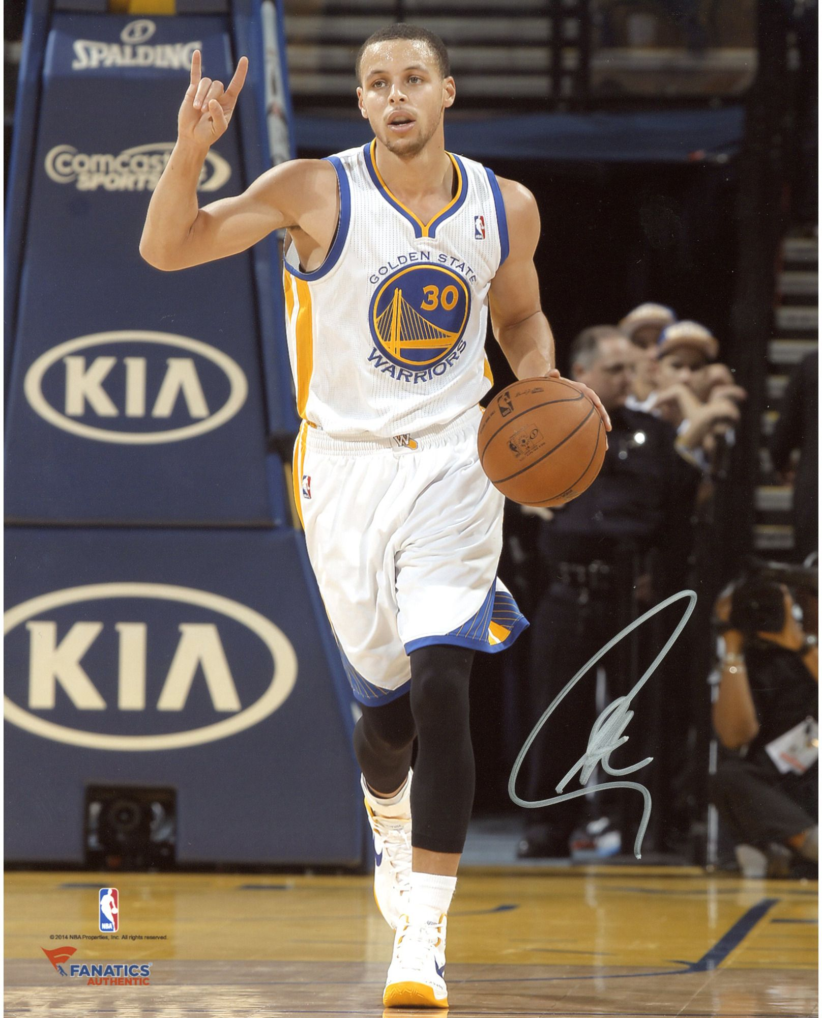 18742927b Stephen Curry Golden State Warriors Autographed 8