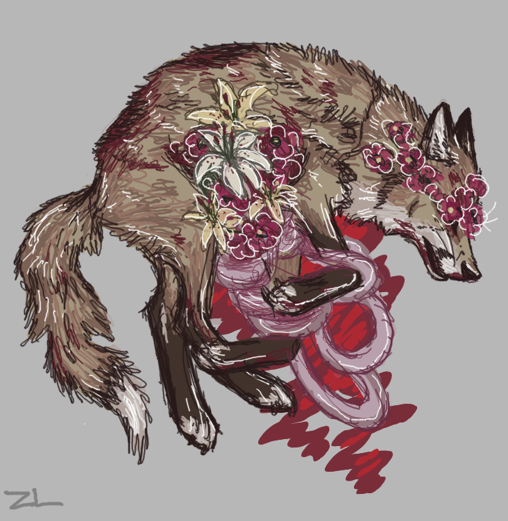 """zackloup: """" Goretober Days 13 and 14 - Decay and Plant Growth In Body """""""