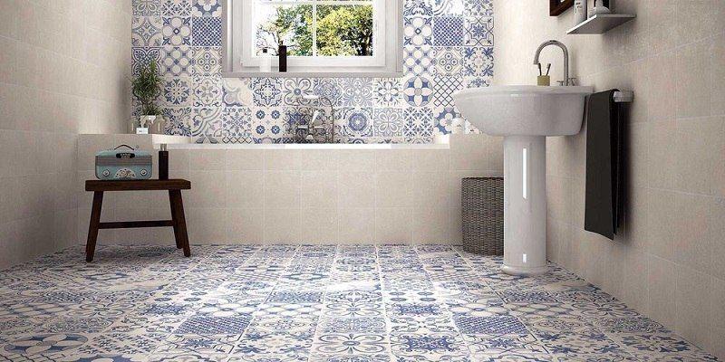 Carrelage imitation parquet, carreaux de ciment et pierre naturelle - carrelage en pierre naturelle salle de bain