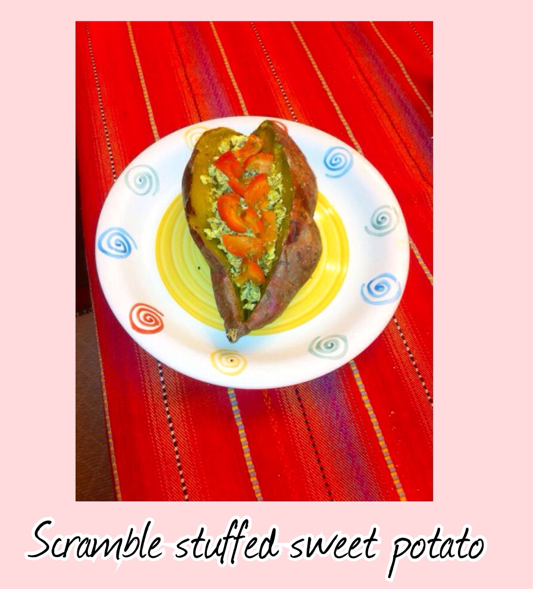 RECIPE LlNKED  #healthy #sweetpotato #natural #vegan #veggie #meghanrosette #food #dinner #lunch #ideas #scramble #eggs #tomato