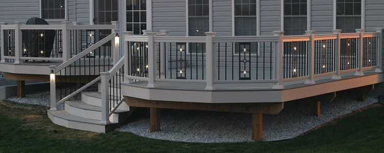 aluminum deck railing with cable cedar balusters lowes kits balcony and railings cast panels panel