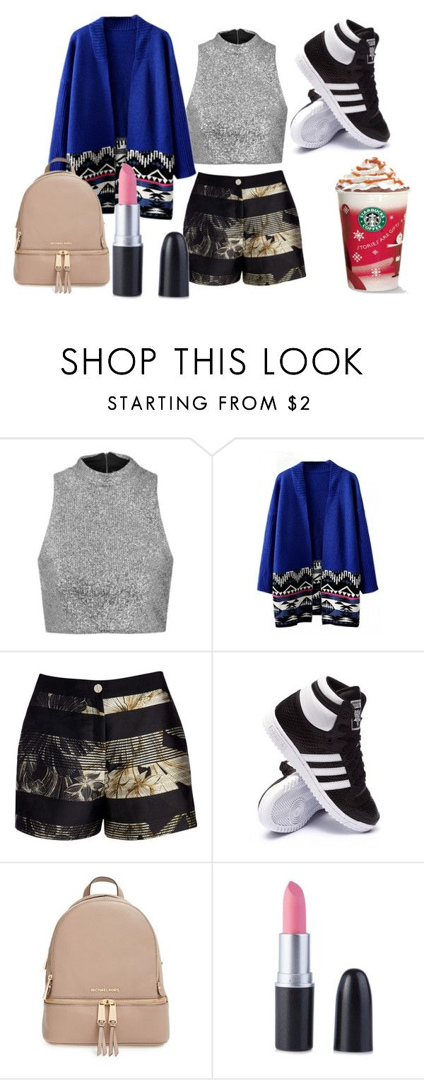 """""""Untitled #77"""" by moli-angeless on Polyvore featuring Topshop, Ted Baker, adidas and MICHAEL Michael Kors"""