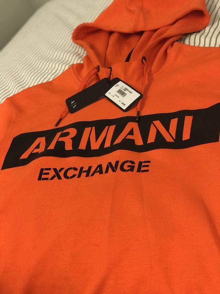 ba4fc9e99 Orange Armani Exchange hoodie men  fashion  clothing  shoes  accessories   mensclothing
