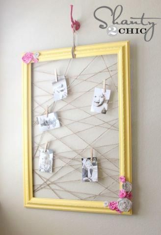 Saw this on the Hobby Lobby facebook page! Turn your old frames into ...