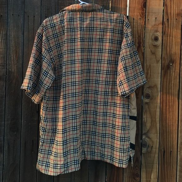 MENS NOVA CHECK TARTAN SHIRT MEDIUM PREOWNED NEVER WORN. SUPER NOVA CHECK AS IN BURBERRY STYLE BUTTON DOWN SHORT SLEEVE SHIRT. JN MEDIUM HAD Shirts Casual Button Down Shirts