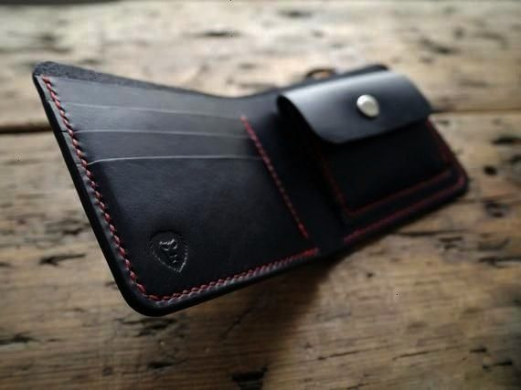 A Handcrafted Bifold Leather Wallet With Coin Pouch and Note Slot Mens Wallet  A Handcrafted Bifold Leather Wallet With Coin Pouch and Note Slot Mens Wallet  A Handcraft...