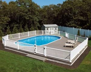 Above Ground Swimming Pool Designs Shapes And Styles Backyard Haven Pool Deck Plans Backyard Pool In Ground Pools
