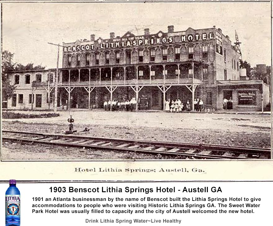 Too Many Tourists And Health Seekers Visiting Lithia Springs Ga No Hotels 1901 An Atlanta Businessman By The Name Of Benscot Built Spring