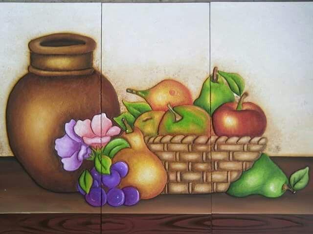 Jarron Con Frutas Con Imagenes Manualidades Pinturas Cuadros