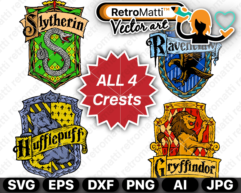 All Hogwart S Crests Svg Slytherin Crest Hogwarts Hogwarts Crest