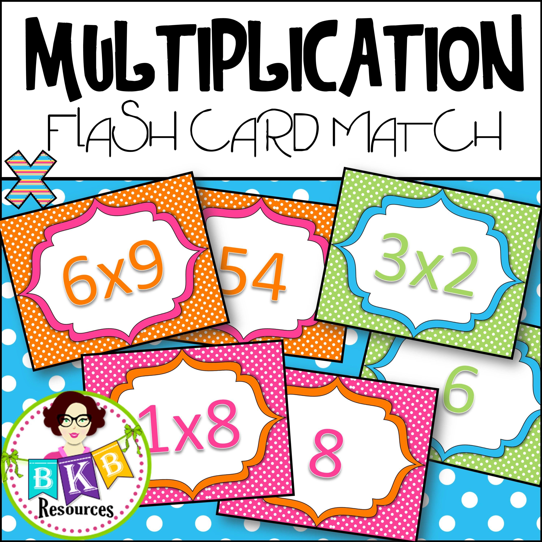 multiplication flash card match | elementary | pinterest
