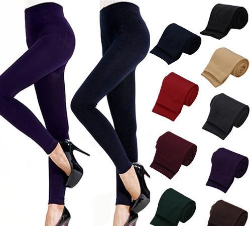 Elastic Thick Winter Keep Women Footless Slim Skinny Leggings Warm Pants Socks