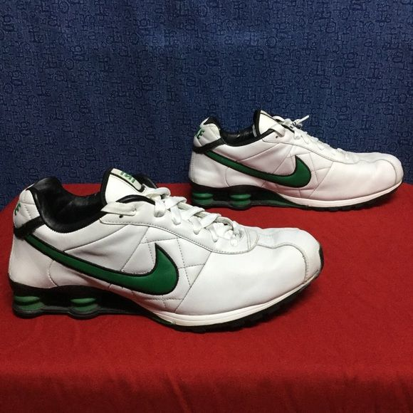 NIKE SHOX CL Classic . white green . 46 w14 m12 Men s 12 . Women s BIG! .  An excellent example of a ten (10) year old pair of NIKE . d53bdb8119