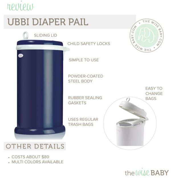 Ubbi Diaper Pail Review • The Wise Baby - a great solution