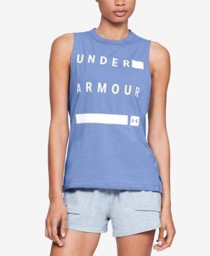 1ece332fc1216 Under Armour Charged Cotton Sleeveless T-Shirt - Purple XXL