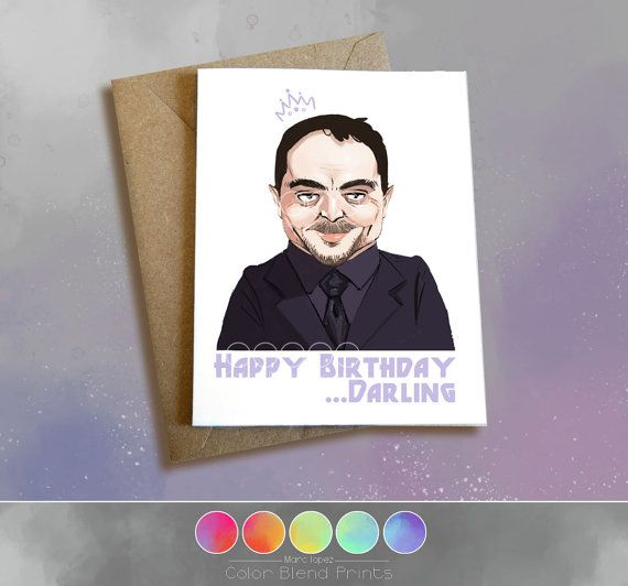 Supernatural Birthday Card Crowley King of by ColorBlendPrints – Supernatural Birthday Card