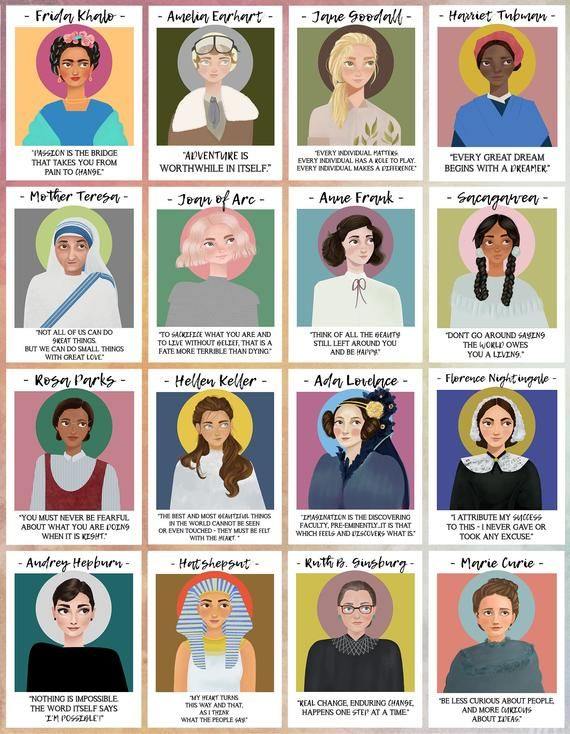 Photo of Mighty Women in History Poster Print / Wall Decor Art / Feminist Illustration Feminism / Frida Khalo