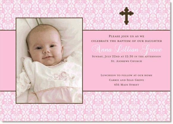 customized baptism invitation girl baptism invitation christening or